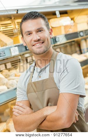Proud male baker