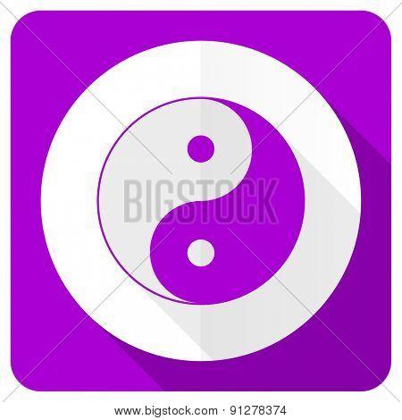 ying yang pink flat icon