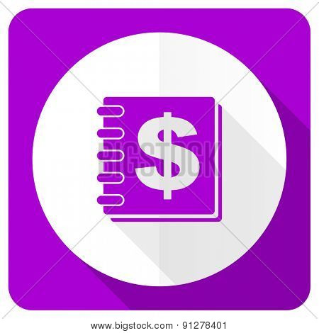 money pink flat icon