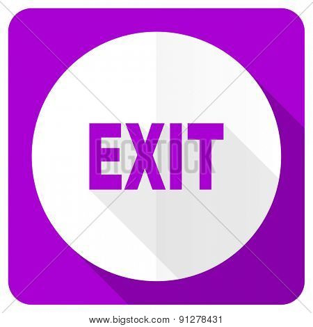 exit pink flat icon