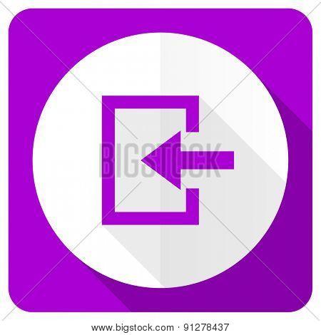 enter pink flat icon