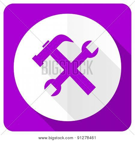 tools pink flat icon service sign