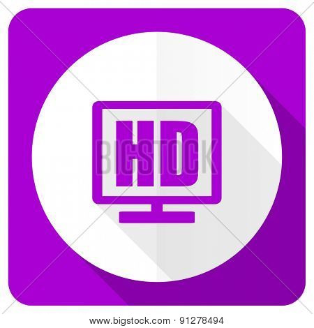 hd display pink flat icon