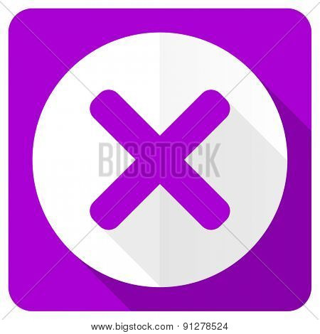 cancel pink flat icon x sign