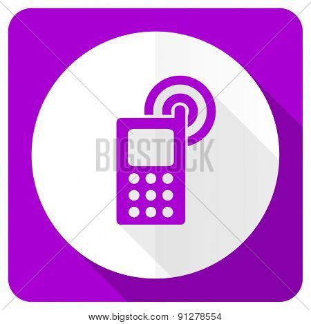 phone pink flat icon mobile phone sign