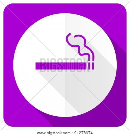 cigarette pink flat icon nicotine sign