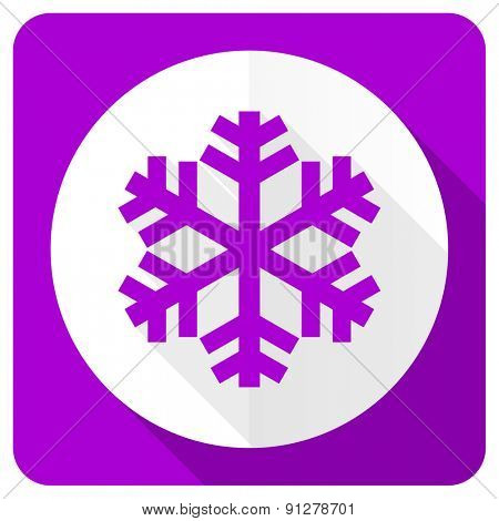 snow pink flat icon air conditioning sign
