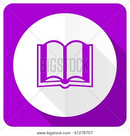 book pink flat icon
