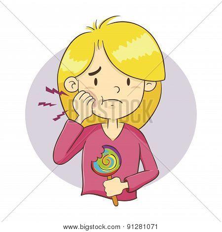 Girl Having A Tooth Ache