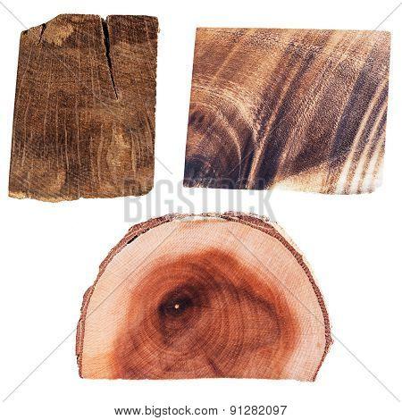 Set of 3 Wooden Slices