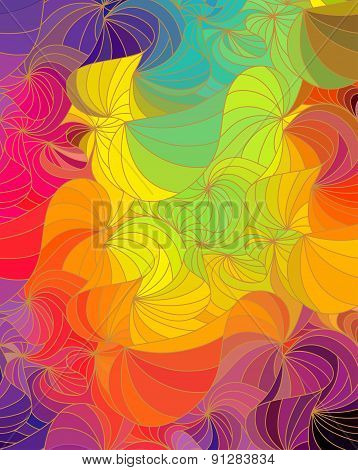 floral background of drawn lines