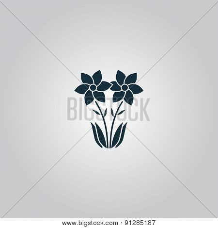 Spring flowers growing. Vector illustration