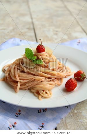 spaghetti on a plate