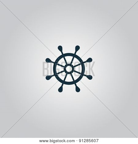 Vector rudder web flat icon