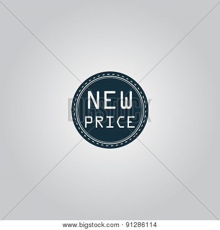 New Price Icon, Badge, Label or Sticker