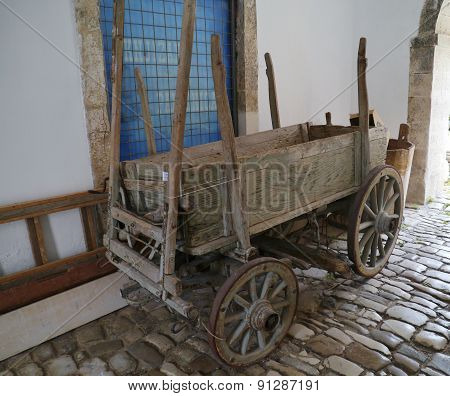 An old agricultural car in Croatia