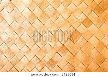 Wicker Woven Pattern Background