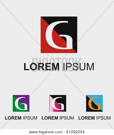 Rectangular logo with letter G