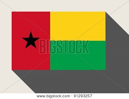 Guinea Bissau flag in flat web design style.