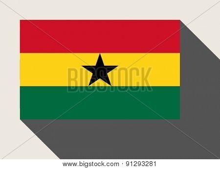 Ghana flag in flat web design style.
