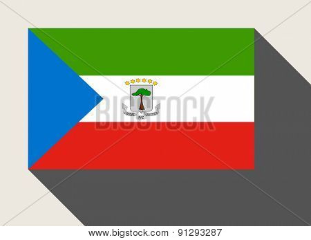 Equatorial Guinea flag in flat web design style.