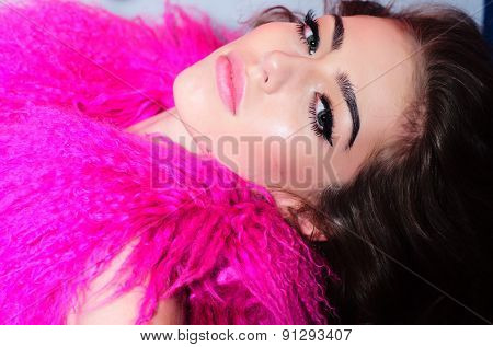 Portrait Of Beautiful Fashionable Young Woman