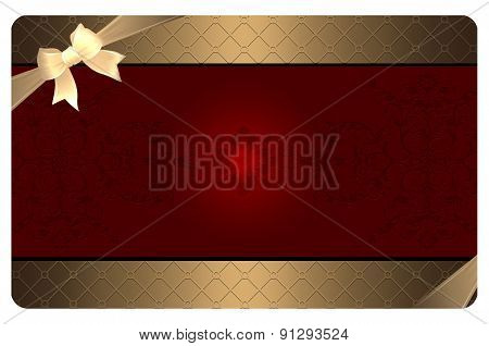 Gold Business Or Gift Card Template.