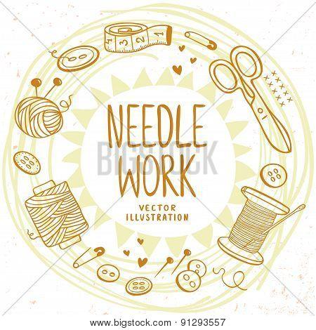 Needle work design