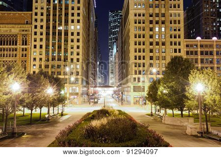 CHICAGO, USA - OCTOBER 04, 2011: Millenium Park. Millennium Park is a public park located in the Loop community area of Chicago in Illinois, US, and originally intended to celebrate the millennium