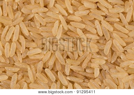 Uncooked Brown Rice Background