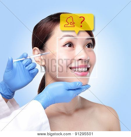Plastic Surgery Operation Concept
