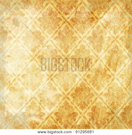 Old Grunge Paper Background With Patterns.