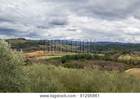 Landscape Around Monteriggioni, Italy