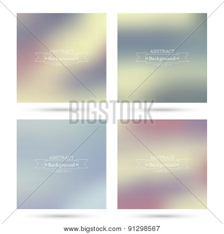 Set  colorful abstract backgrounds blurred.