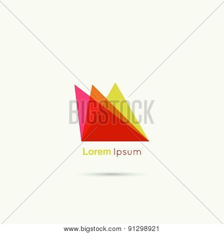 Business Abstract vector logo icon.