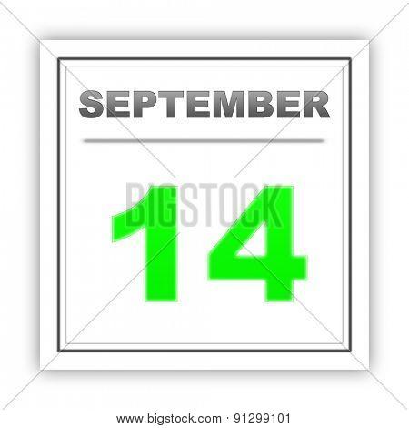 September 14. Day on the calendar. 3d