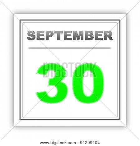 September 30. Day on the calendar. 3d