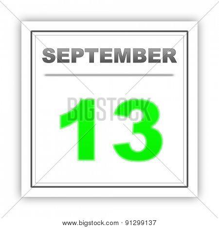 September 13. Day on the calendar. 3d