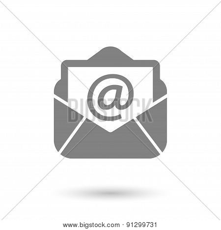 Flat Mail Icon Background
