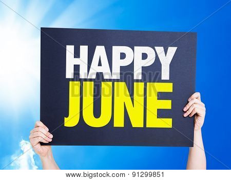 Happy June card with a beautiful day