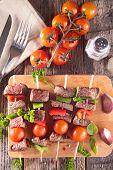 stock photo of kebab  - beef kebab - JPG