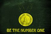 image of gold medal  - goals and success be the number one - JPG