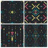 image of aztec  - Set of Geometric background - JPG