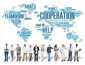 picture of coworkers  - Cooperation Business Coworker Planning Teamwork Concept - JPG