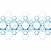 image of molecules  - Abstract background of blue molecule structure - JPG