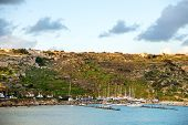 picture of gozo  - Port of Mgarr at sunset on the small island of Gozo Malta - JPG