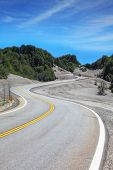stock photo of volcanic  - Winding road in Chilean Patagonia - JPG