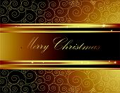 image of welts  - Gold and black Merry Christmas background with stars - JPG