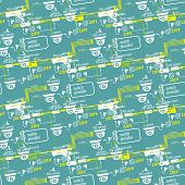 picture of cctv  - Seamless pattern of textile equipment and circuitry for CCTV - JPG