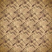 stock photo of cctv  - Seamless worn textile pattern of equipment and circuits for CCTV - JPG